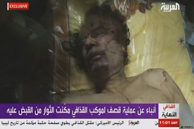 gaddafi body display