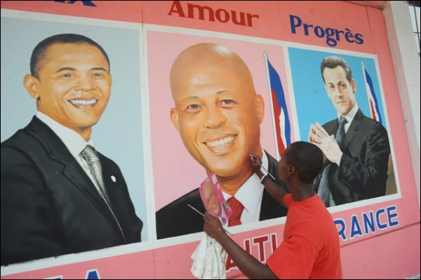 obama, martelly and sarchozy
